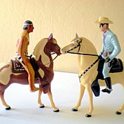 Hartland Lone Ranger & Silver Tonto & Scout FULL Size
