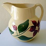 LARGE 5 Pint Watt Pottery Pitcher Starflower Pattern