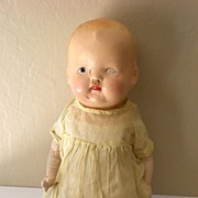 Sad 1930's Composition Baby Doll