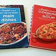 (2) Vintage Cookbooks Campbell Soup