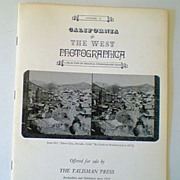 1983 Photographica Catalog Stereograph Views