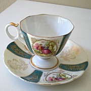 "Lovely Vintage ""Royal Sealy"" Footed Cup & Saucer"