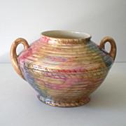 "Large 1930s Pottery Vase Signed ""J. Fryer Ltd"" Tunstall England"