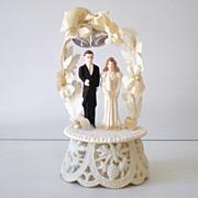 Vintage 1940s Wedding Cake Top Bride & Groom