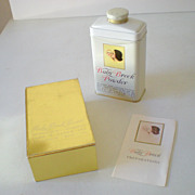 Never Opened Tin Breck Baby Talc in Box 1951