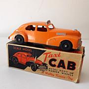 Vintage Hubley Toy Taxi Cab Metal In Original Box