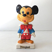 1960s Composition Mickey Mouse Bobblehead Disneyland