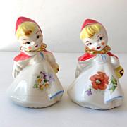 Hull Pottery  Little Red Riding Hood  Salt & Pepper Shakers