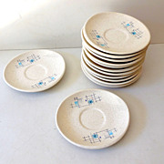 (13) Franciscan Gladding McBean Saucers Oasis Pattern