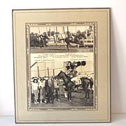 "8X10 Photo 1949 Race Horse Winner's Circle ""Lucky Five"""