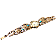 Native American Style Western Watchband w/ Stones