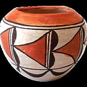 Native American Acoma Pueblo Hand Made Clay Pot