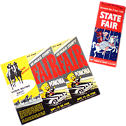 1958 State Fair Sacramento & Los Angeles County California Program & Map