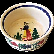 French Porcelain Custard Bowl Signed Henriot Quimper