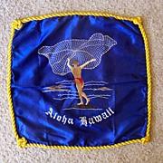 Hawaiian Net Fisherman Embroidered Pillow Slip