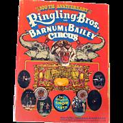 LARGE Ringling Bros Circus Program/Souvenir Book 100th Anniversary 1970