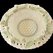 Large Gorgeous Belleek 4 Strand Basket Convolvulus
