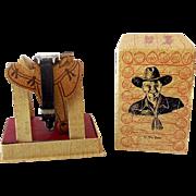Vintage Hopalong Cassidy Wrist Watch in Original Saddle Display Box