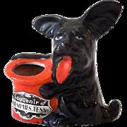 Vintage Ceramic Figural Pin Cushion Scottie Dog