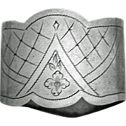 "Russian Oval ""84"" Silver Napkin Ring"