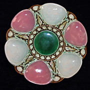 Antique Majolica Oyster Plate