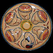 Rare Henriot Quimper Oyster Plate