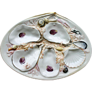 Union Porcelain Works (UPW) Antique Oyster Plate