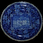 c. 1820 Enoch Wood English Historical Blue St. Philips Chapel Transferware  Plate