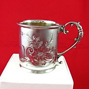 Vintage Derby Silver Company Etched Child's Cup