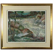 George Menendez Rae Vibrant Oil Painting from Listed Artist