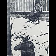 Pietro Parigi ( 1892-1990) Italian Artist Serigraph S/N