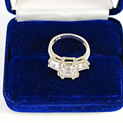 Wonderful Sterling Silver with CZ Ring Size 7.5