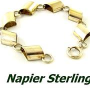 Vintage Modernist Napier Sterling Silver Bracelet