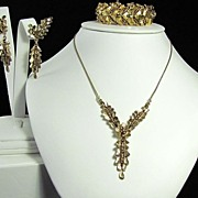 Amazing Marcel Boucher Bracelet Necklace and Earrings Set