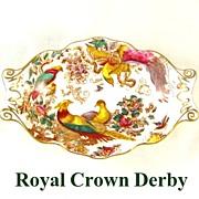 Royal Crown Derby Exotic Birds Nut Dish