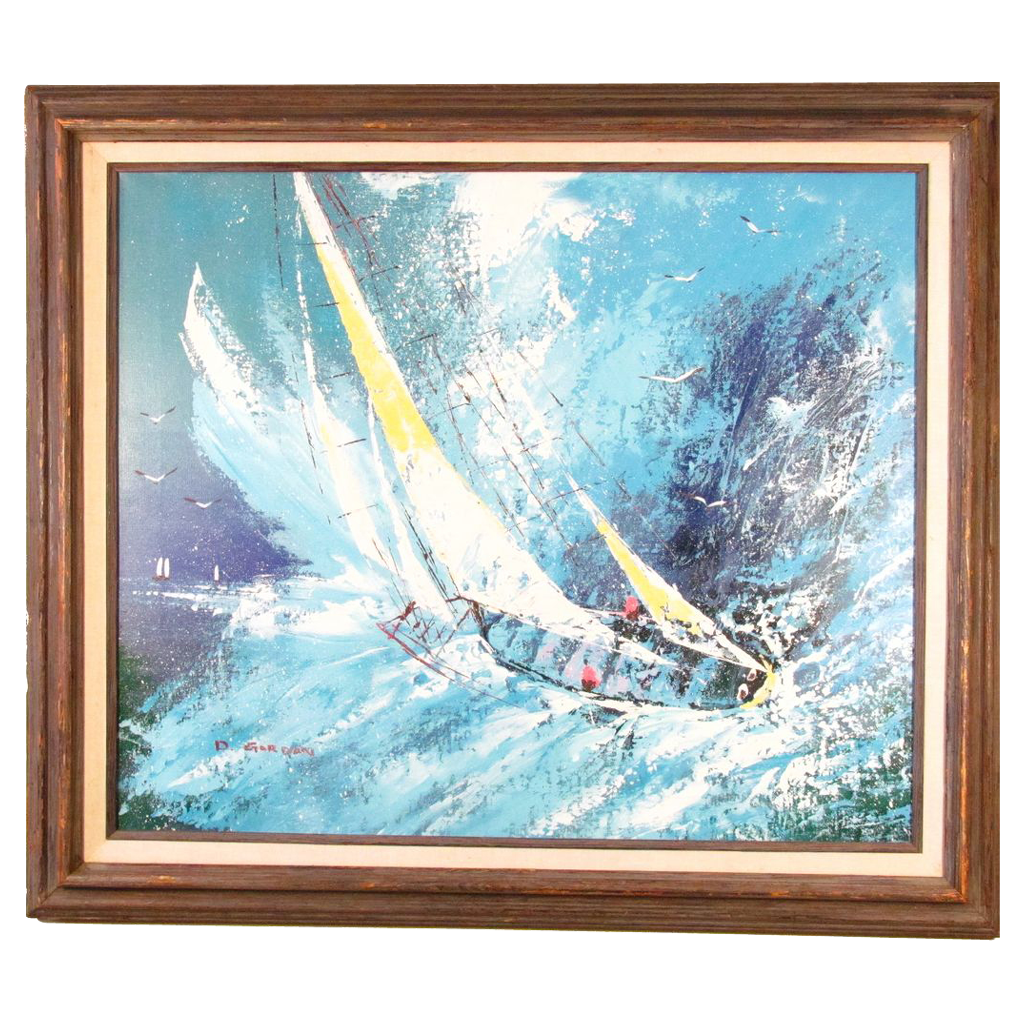 Superb Oil Painting of a Nautical Scene