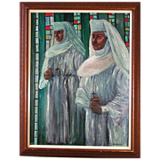 Joseph Hilpert (1895-1975) Beautiful Religious Oil Painting