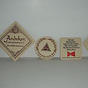 Beer Coasters Hamm's, Pabst Andecker, Blatz, Gettleman , Budweiser