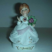 Vintage Japan birthday gem girl figurine