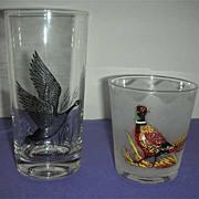 Bird drink glasses