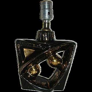 REDUCED Retro lamp in black geometric shapes