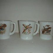 Fire King Game Bird cups