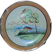 Scenic  Japan Lustre porcelain painted plate