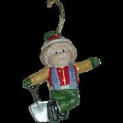 1984 Cabbage Patch Boy w/ shovel Porcelain ornament