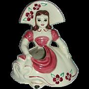 Goldammer  hat girl Ceramics of San Francisco ,California planter vase
