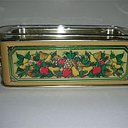 Teleflora harvest holder metal 1981w/ pyrex dish