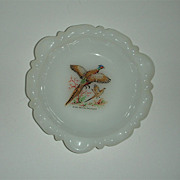 Fire King Ringneck Pheasant Game Bird Ashtray