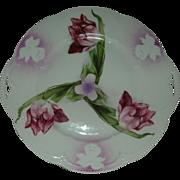 Bayreuth Transfer Tulip plate with iris stencil