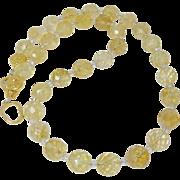 Faceted Golden Citrine Necklace