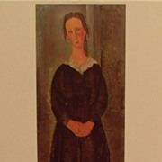 Servant Girl by Amedeo Modigliani (Italian)  Lithograph- Girl
